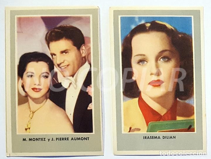 11 CROMOS DE CINE AÑOS 40-50. ACTORES AMERICANOS. NUEVOS!!! (Cine - Fotos, Fotocromos y Postales de Películas)