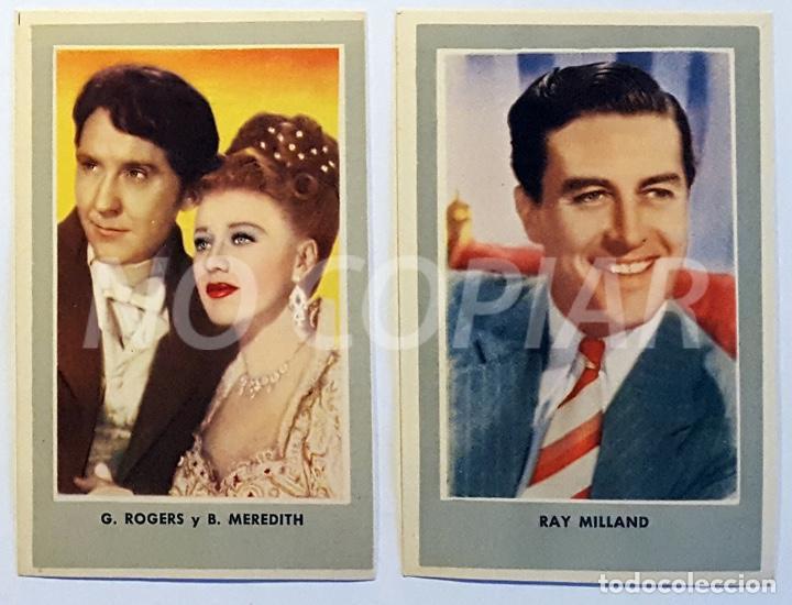 Cine: 11 CROMOS DE CINE AÑOS 40-50. ACTORES AMERICANOS. NUEVOS!!! - Foto 4 - 146588498