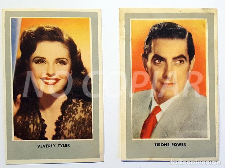 Cine: 11 CROMOS DE CINE AÑOS 40-50. ACTORES AMERICANOS. NUEVOS!!! - Foto 5 - 146588498