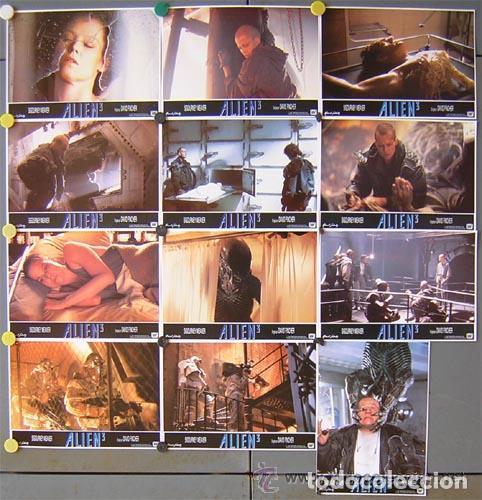 QP12 ALIEN 3 SIGOURNEY WEAVER DAVID FINCHER SET COMPLETO 12 FOTOCROMOS ORIGINAL ESTRENO (Cine - Fotos, Fotocromos y Postales de Películas)
