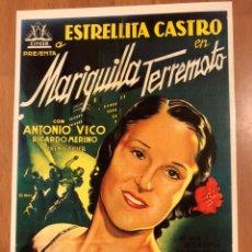 Cine: TARJETA POSTAL TARJETA POSTAL MARIQUILLA TERREMOTO ESTRELLITA CASTRO ANTONIO VICO. Lote 147038136