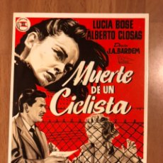 Cine: TARJETA POSTAL MUERTE DE UN CICLISTA LUCIA BOSÉ ALBERTO CLOSAS.JUAN ANTONIO BARDEM. Lote 147039417