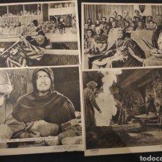 Cine: CINE. IVANHOE. 1952. ROBERT TAYLOR. METRO GOLDWYN MAYER. 6 CARTELES FOTO LAMINA.. Lote 147041588