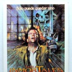 Cine: Nº 107 LOS INMORTALES (HIGHLANDER) 1986, TARJETA POSTAL DE PELÍCULA, EDITIONS MERCURI, SIN CIRCULAR. Lote 147252818