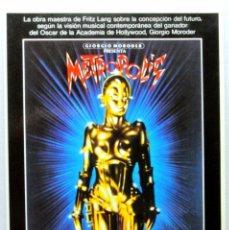 Cine: Nº 343 .-METROPOLIS (1984) , TARJETA POSTAL DE PELÍCULA, SIN CIRCULAR. Lote 147286562
