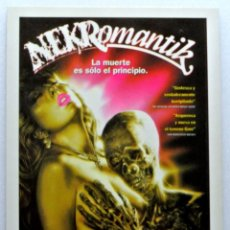 Cine: Nº 255 .- NEKROMANTIK (1982) , TARJETA POSTAL DE PELÍCULA, CLASICOS CINEMA, SIN CIRCULAR. Lote 147330774