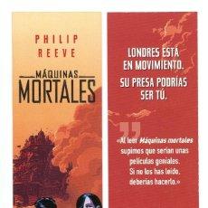 Cine: MARCAPÁGINAS DE MÁQUINAS MORTALES.. Lote 147332186
