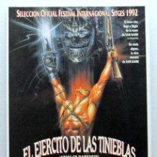 Cine: Nº 766 .- EL EJERCITO DE LALS TINIEBLAS (1992), TARJETA POSTAL DE PELÍCULA, SIN CIRCULAR. Lote 147333566