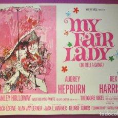 Cine: MY FAIR LADY, AUDREY HEPBURN, REX HARRISON, WARNER BROS, 10 FOTOCROMOS, F583. Lote 147343054