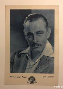 JOHN BARRYMORE METRO GOLDWIN MAYER regalos para cinéfilos