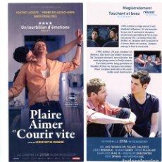 Cine: PLAIRE AIMER ET COURIR VITE, DE CHRISTOPHE HONORÉ. 10 X 21 CMS... Lote 289705383