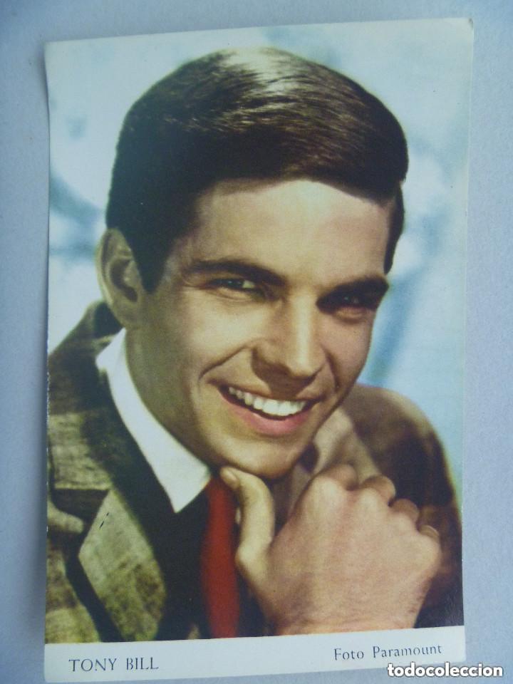 POSTAL DEL ACTOR TONY BILL . PARAMOUNT . AÑOS 60 (Cine - Fotos y Postales de Actores y Actrices)
