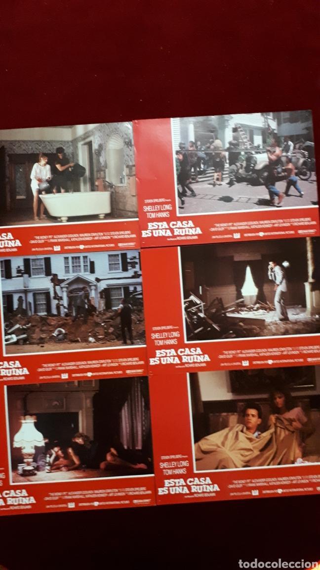 LOTE DE 6 FOTOCROMOS DE ESTA CASA ES UNA RUINA. STEVEN SPIELBERG, SHELLEY LONG, TOM HANKS (Cine - Fotos, Fotocromos y Postales de Películas)