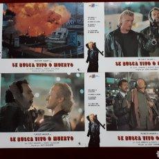 Cine: LOTE DE 4 FOTOCROMOS DE SE BUSCA VIVO O MUERTO. Lote 148341316