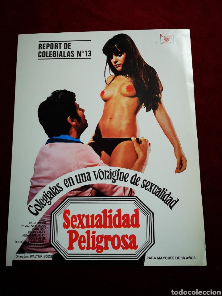 Cine: LOTE DE 9 FOTOCROMOS. SEXUALIDAD PELIGROSA - Foto 4 - 148361286