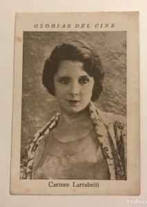 Carmen Larrabeiti. Glorias del cine. Serie N. Núm 20