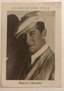 Maurice Chevalier. Glorias del cine. Serie M. Núm 10