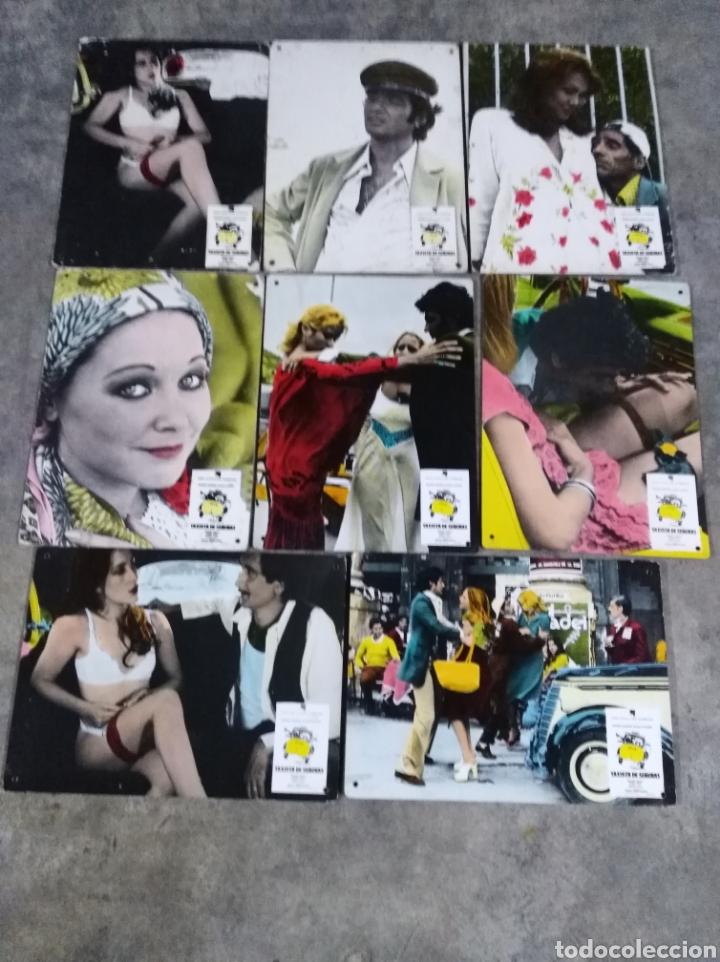 TAXISTA DE SEÑORAS MÁXIMO VALVERDE BLANCA ESTRADA 8 FOTOCROMOS ORIGINALES EN CARTÓN (Cine - Fotos, Fotocromos y Postales de Películas)