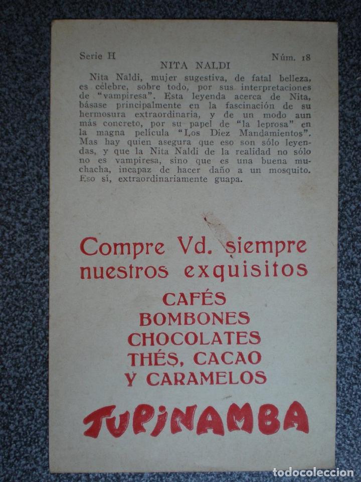 Cine: CROMO ANTIGUO DE CINE NITA NALDI PUBLICIDAD TUPINAMBA CAFÉS Y BOMBONES - Foto 2 - 148961293