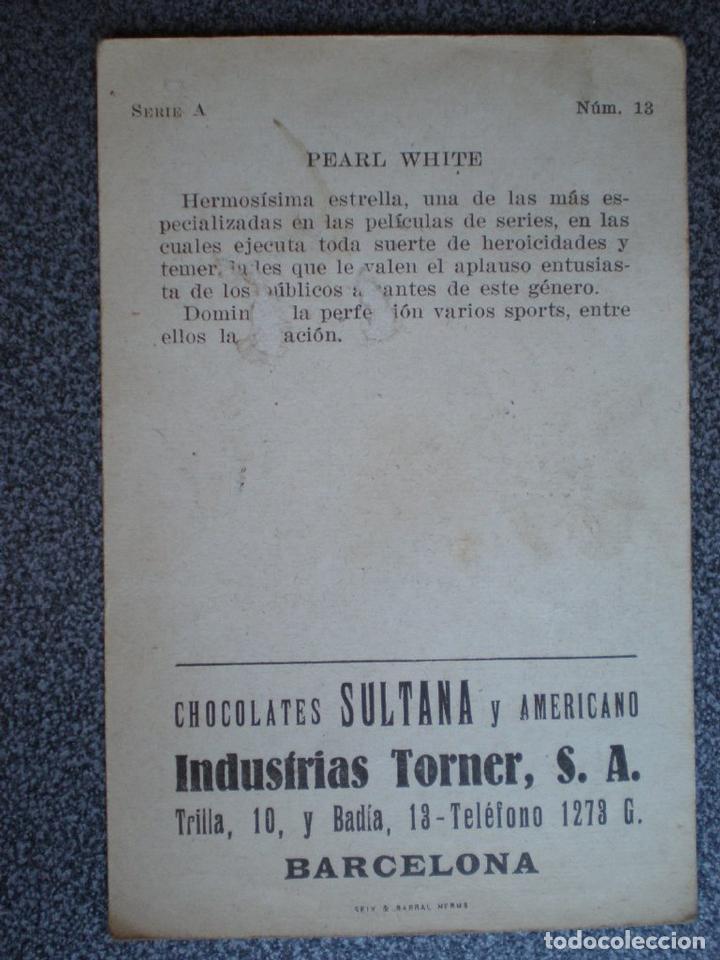 Cine: CROMO ANTIGUO DE CINE PEARL WHITE PUBLICIDAD CHOCOLATES SULTANA - Foto 2 - 148961708