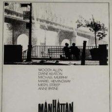 Cinéma: MANHATTAN POSTAL WOODY ALLEN DIANE KEATON 15 X 10,5. Lote 146385802