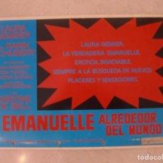 Cine: EMANUELLE ALREDEDOR DEL MUNDO / JOE D'AMATO / LAURA GEMSER / JUEGO ORIGINAL 4 FOTOCROMOS ESTRENO. Lote 149732506