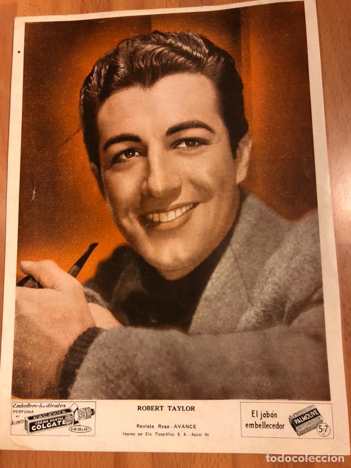 FOTO PUBLICIDAD COLGATE Y PALMOLIVE 28 X 21 CM ROBERT TAYLOT (Cine - Fotos y Postales de Actores y Actrices)