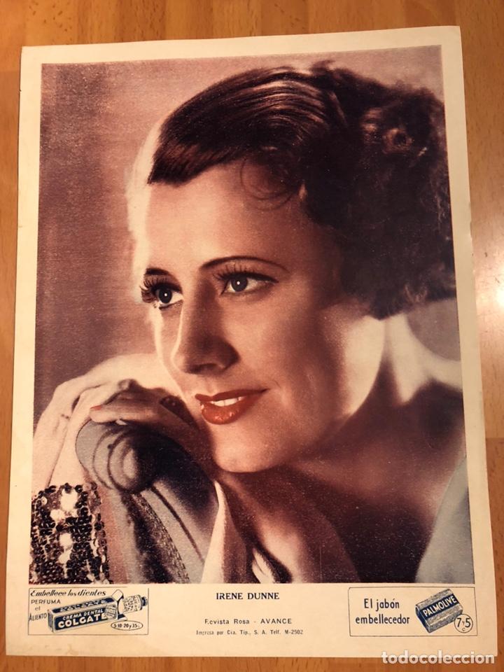 FOTO PUBLICIDAD COLGATE Y PALMOLIVE 28 X 21 CM IRENE DUNNE (Cine - Fotos y Postales de Actores y Actrices)