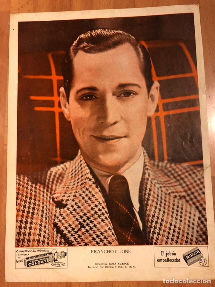FOTO PUBLICIDAD COLGATE Y PALMOLIVE 28 X 21 CM FRANCHOT TONE (Cine - Fotos y Postales de Actores y Actrices)