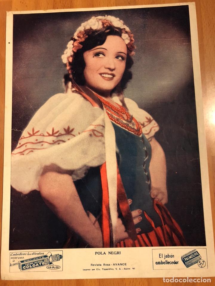 FOTO PUBLICIDAD COLGATE Y PALMOLIVE 28 X 21 CM POLA NEGRI (Cine - Fotos y Postales de Actores y Actrices)