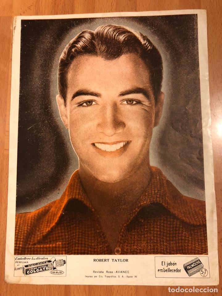 FOTO PUBLICIDAD COLGATE Y PALMOLIVE 28 X 21 CM ROBERT TAYLOR (Cine - Fotos y Postales de Actores y Actrices)