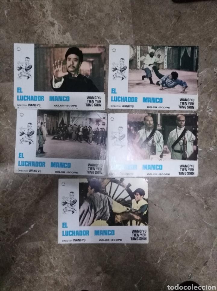 Cine: EL LUCHADOR MANCO WANG YU 11 FOTOCROMOS ORIGINALES DEL ESTRENO Q - Foto 2 - 150586282