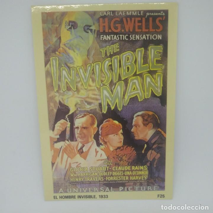 Postal The invisible man. El hombre invisible 1933 F25 Fantastico 25 H.G Wells 10x15 cm - 147832474