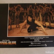 Cine: STAYING ALIVE / JOHN TRAVOLTA / JUEGO ORIGINAL 8 FOTOCROMOS ESTRENO. Lote 151430598
