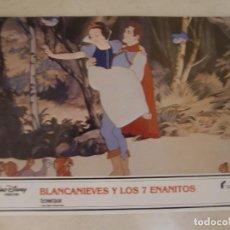 Cine: BLANCANIEVES Y LOS 7 ENANITOS / WALT DISNEY / JUEGO ORIGINAL 11 FOTOCROMOS REESTRENO. Lote 151434514