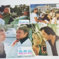 Cine: ATRACO EN LA JUNGLA COMPLETO 10 FOTOCROMOS ROBERT VAUGHN SIMON ANDREU KATIA KRISTINE LOBBY CARD 1976. Lote 151827973