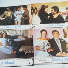 Cine: MICKY Y MAUDE 10 FOTOCROMOS DUDLEY MOORE AMY IRVING LOBBY CARDS 1984. Lote 151836512