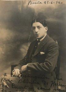 1920 Antigua postal fotográfica. Pepe Acuaviva 8x12,9 cm