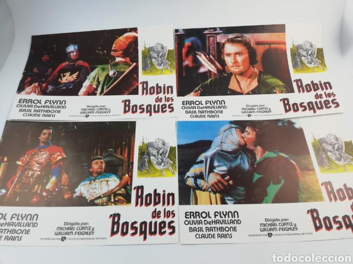 ROBIN DE LOS BOSQUES 12 FOTOCROMOS SET COMPLETO LOBBY CARDS ERROL FLYNN OLIVIA DE HAVILLAND ,HOOD (Cine - Fotos, Fotocromos y Postales de Películas)