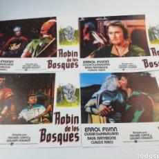Cine: ROBIN DE LOS BOSQUES 12 FOTOCROMOS SET COMPLETO LOBBY CARDS ERROL FLYNN OLIVIA DE HAVILLAND ,HOOD. Lote 152000516
