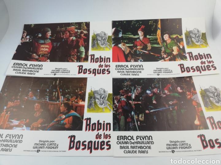 Cine: ROBIN DE LOS BOSQUES 12 FOTOCROMOS SET COMPLETO LOBBY CARDS ERROL FLYNN OLIVIA DE HAVILLAND ,HOOD - Foto 2 - 152000516