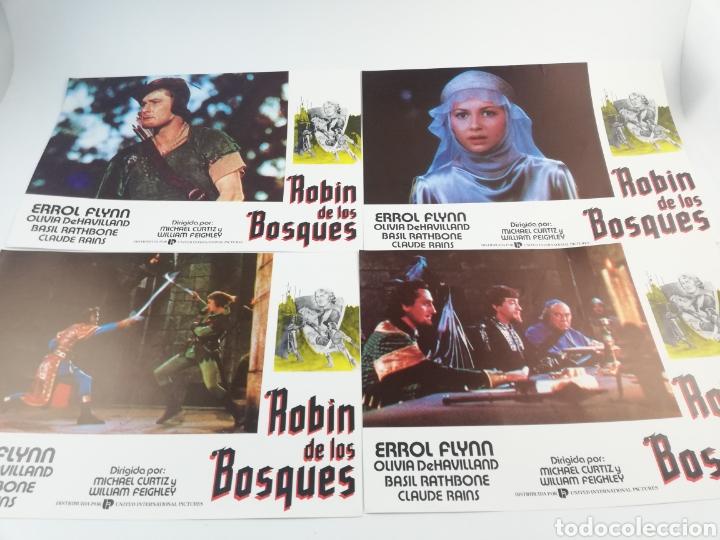 Cine: ROBIN DE LOS BOSQUES 12 FOTOCROMOS SET COMPLETO LOBBY CARDS ERROL FLYNN OLIVIA DE HAVILLAND ,HOOD - Foto 3 - 152000516