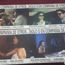 Cine: SOLO EN COMPAÑÍA DE OTROS. LOTE 8 FOTOCROMOS.. Lote 152083948