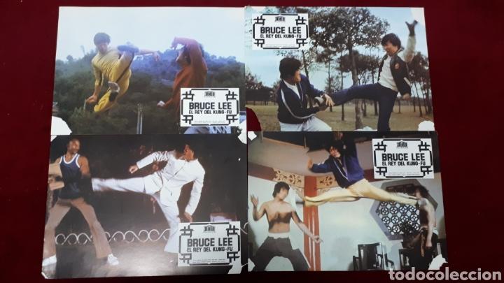 BRUCE LEE EL REY DEL KUNG-FU. LOTE 8 FOTOCROMOS (Cine - Fotos, Fotocromos y Postales de Películas)