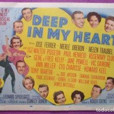 Cine: DEEP IN MY HEART, JOSE FERRER, MERLE OBERON, 1954, 8 FOTOCROMOS, LOBBY CARD, F586. Lote 152168830