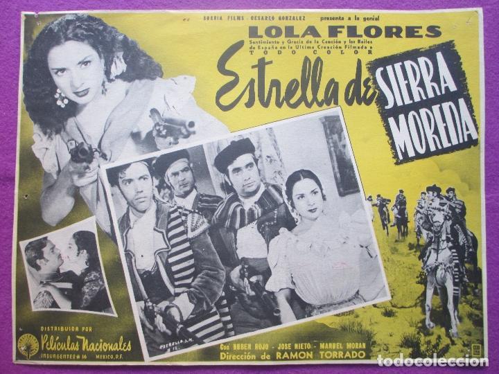 ESTRELLA DE SIERRA MORENA, LOLA FLORES, MEXICO, LOBBY CARD (Cine - Fotos, Fotocromos y Postales de Películas)
