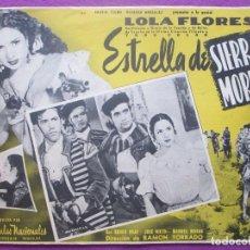 Cine: ESTRELLA DE SIERRA MORENA, LOLA FLORES, MEXICO, LOBBY CARD. Lote 152169790