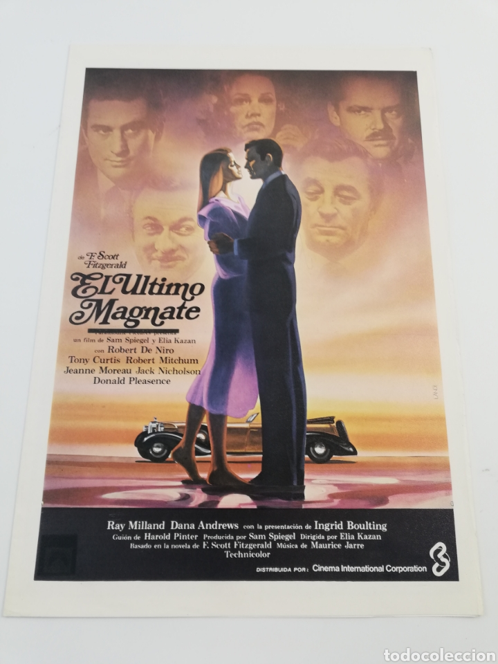 Cine: EL ULTIMO MAGNATE 12 FOTOCROMOS COMPLETO GUIA, DE NIRO JACK NICHOLSON, LOBBY CARDS SCOTT FITZGERALD - Foto 4 - 152180344