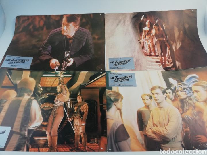 LOS 7 MAGNIFICOS DEL ESPACIO EXTERIOR 12 FOTOCROMOS JUEGO COMPLETO LOBBY CARDS. (Cine - Fotos, Fotocromos y Postales de Películas)