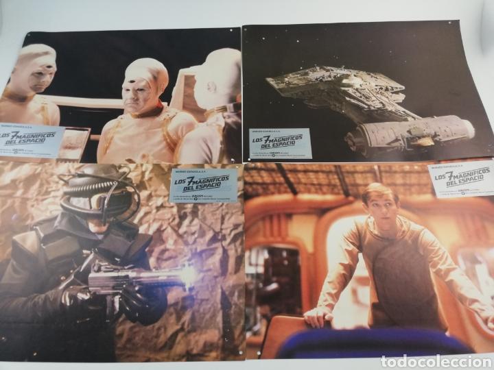 Cine: LOS 7 MAGNIFICOS DEL ESPACIO EXTERIOR 12 FOTOCROMOS JUEGO COMPLETO LOBBY CARDS. - Foto 2 - 152190577
